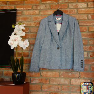 Boden Mina Blazer in Chambray NWT 4